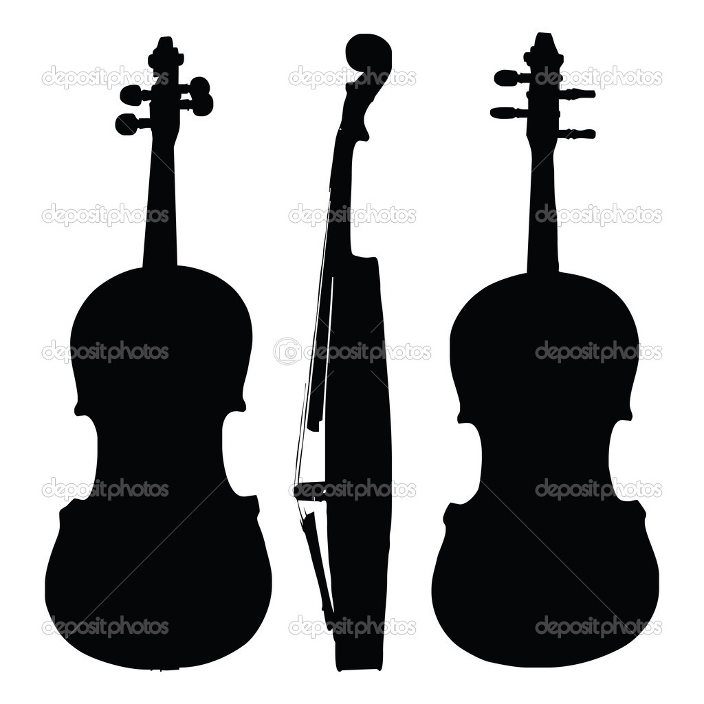 violin silhouette   galleryhip     the hippest pics