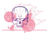Skull abstract background — Stock Vector