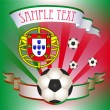 Vector Football poster with Portugal  flag — Stock Vector