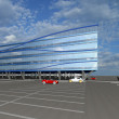 3D Sketch of modern commercial building — Stock Photo #4319453