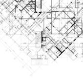 Vettore architettonico sfondo bianco e nero — Vettoriale Stock