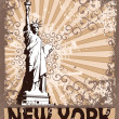 Stock Vector: Statue Of Liberty - Symbol of New York City