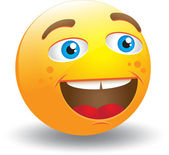 Laughing Smiley Face — Stock Vector