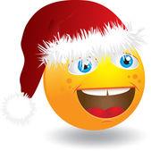 Christmas Smiley Face — Stock Vector