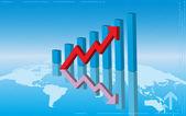 Graph Chart — Stock Vector
