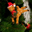 Reindeer christmas ornament — Stock Photo
