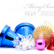 Christmas decoration objects — Foto de Stock