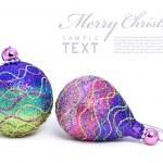 Isolated shiny pink Christmas ball — Stock Photo