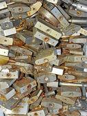 Many old locks closed — Stock Photo