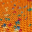 Multicolored rubber with metal needles — Stock Photo #5289690