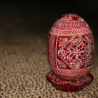 Painted Wooden Easter egg — Stock Photo