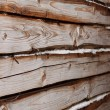 Part of wooden house wall — Stock Photo