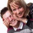 Young love couple smiling — Stock Photo #5150374
