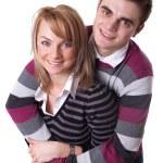 Portrait of a romantic young couple — Stock Photo