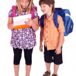 Kids posing for back to school theme - Stock Photo