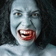 Stock Photo: Portrait of a vampire