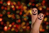 Câlin doigt citrouille halloween — Photo