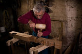 Woodcarver work in the workshop 2 — Stockfoto