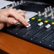 Mixing desk — Stockfoto