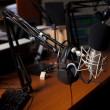Stock Photo: Radio studio