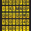 Yellow sleek vector abc flipping panel - Stockvectorbeeld