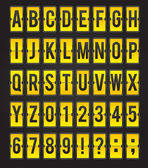 Yellow sleek vector abc flipping panel — Stock vektor