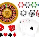 Gambling Goodies — Stock Vector
