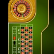 Roulette table layout - Stock Vector