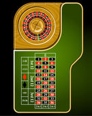 Roulette table layout — Stock Vector