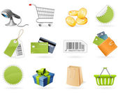 Shopping and retail icons — Stockvektor