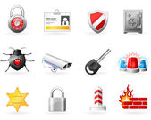 Security and Safety icons — Stock Vector