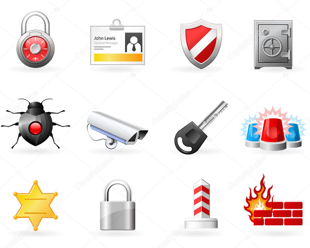 Security and Safety icons  Stock Vector #4070257