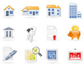Immobilien-icon-set — Stockvektor