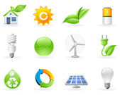 Ecology and Alternative Energy icon set — Stockvektor
