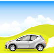 Royalty-Free Stock Vector Image: Alternative Energy car