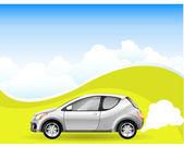 альтернативная энергия автомобиль — Cтоковый вектор