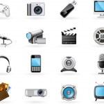 Multimedia icon set — Stock Vector #4221665