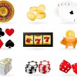 Gambling Icon set — Stok Vektör