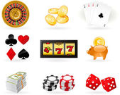 Gambling Icon set — Stock Vector