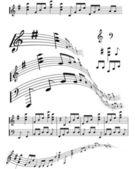 Musiknote — Stockvektor