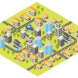 Isometric city — Vector de stock