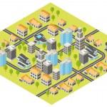 ville isométrique — Vecteur