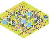 Isometric city — Stockvektor
