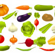 Set of vegetables — Stock Vector #4659077
