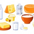 Milk and farm products — Stock Vector