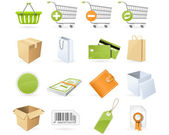 Shopping and retail icons — Cтоковый вектор