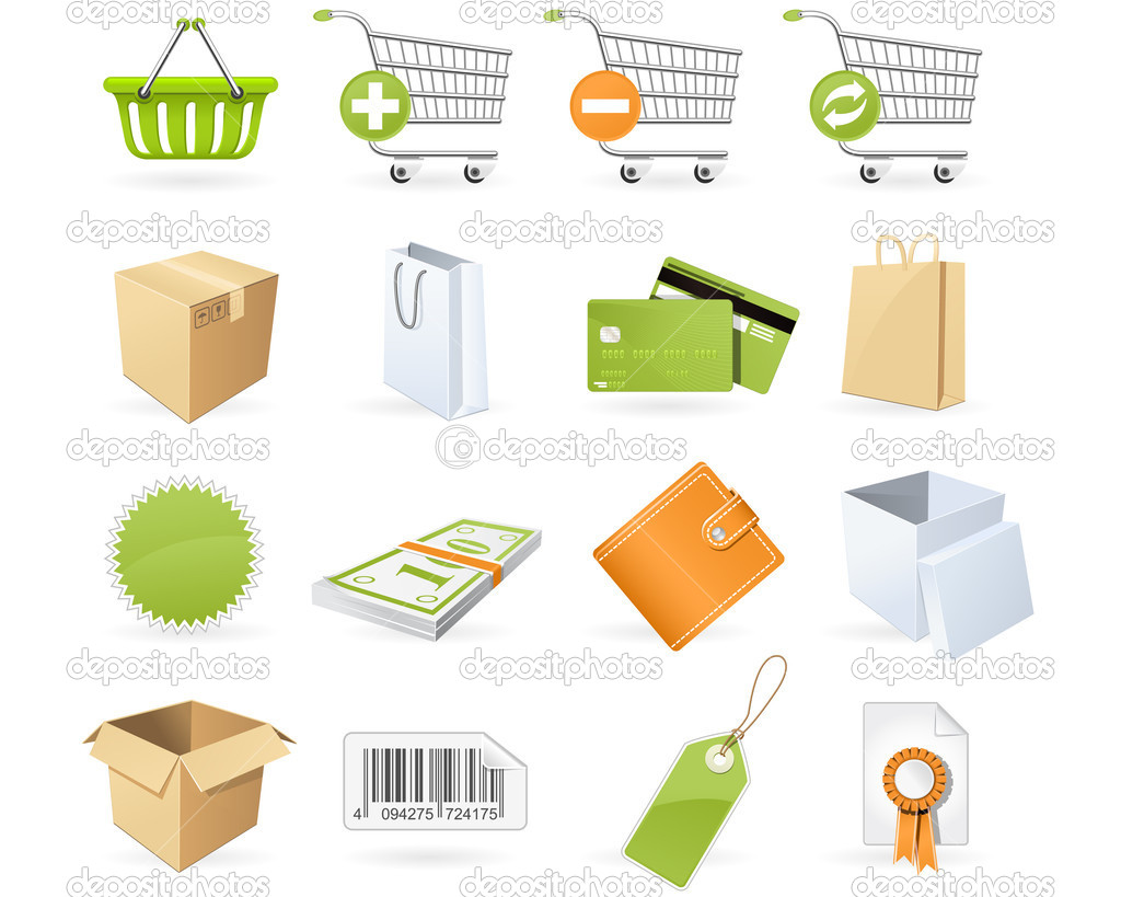 Shopping and retail icons — Stock Vector #4814031