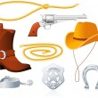 Cowboy Accessories — Stock Vector