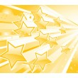 Background with shining star torrent - Stock Vector