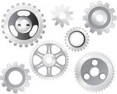 Machine Gear Wheel — Stock Vector